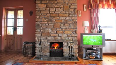 Haven Cottage Dunfanaghy - open fireplace