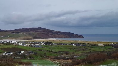View over Dunfanaghy and Horn Head from house