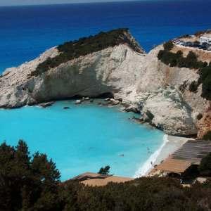 Остров Лефкада, Греция-пляж Porto Katsiki в Лефкасе
