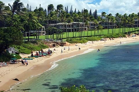 Отдых на Гавайских островах - Пляж Каанапали, Мауи