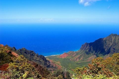 Отдых на Гавайских островах, Кауаи, уникальное побережье Napali