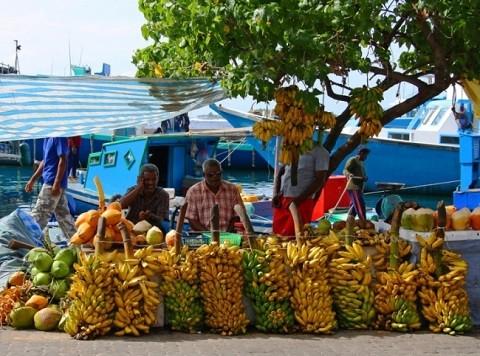 Мальдивские-острова, отдых - овощной и фруктовый рынок