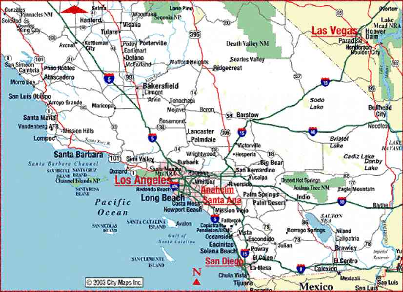 Full Size Map California Beaches