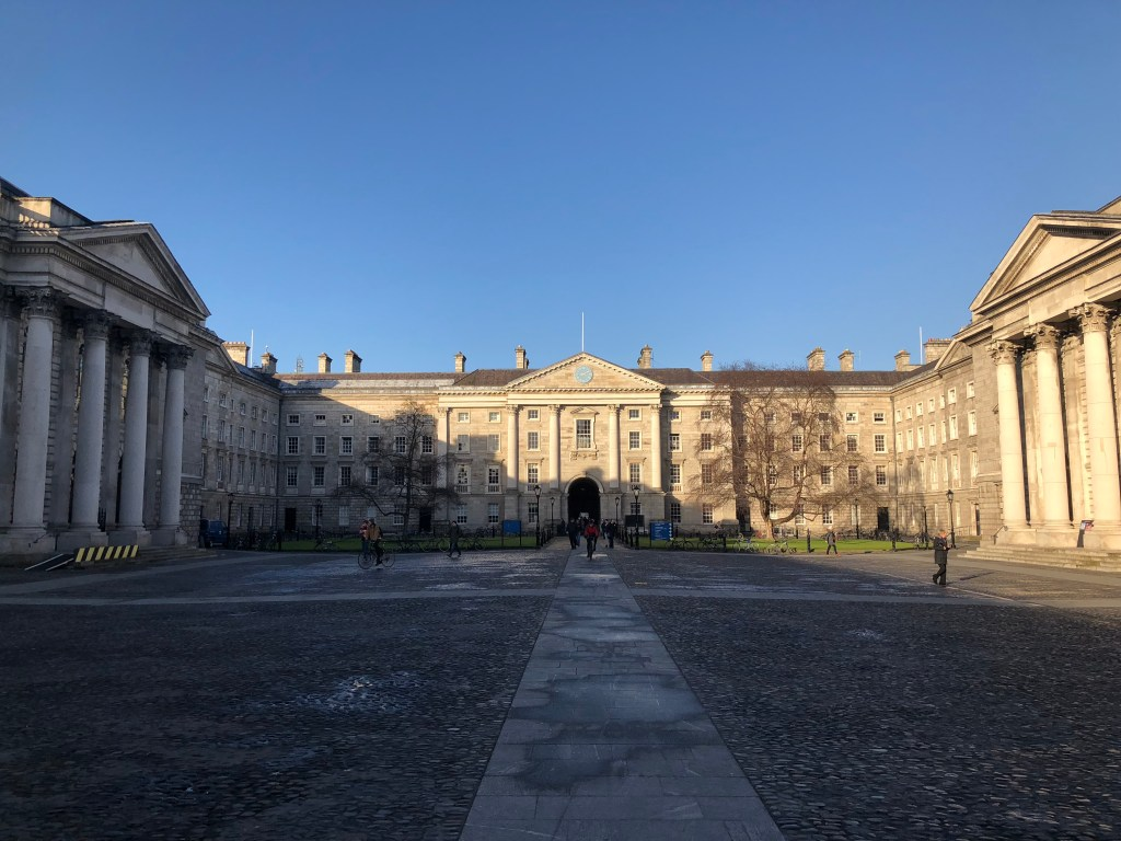 Trinity college entrance viewed from inside the Courtyard.