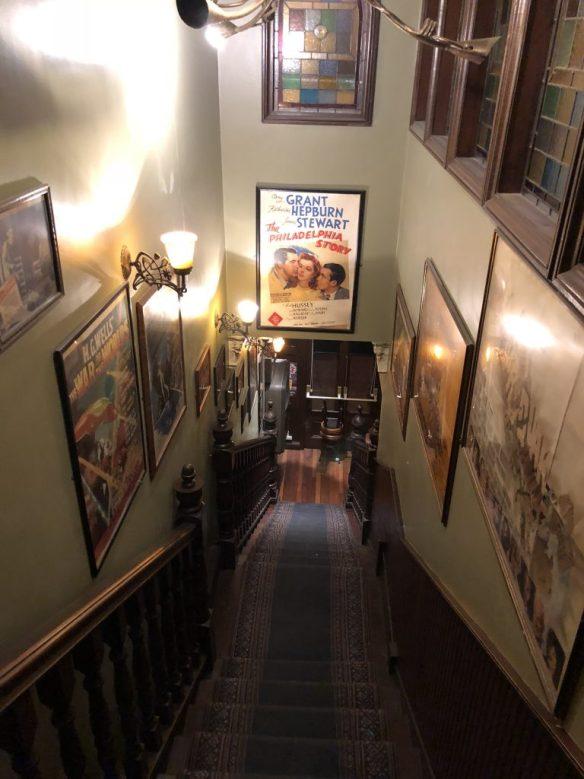 Bar stairs in Dublin during the Musical Pub Crawl