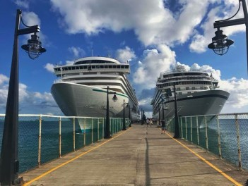 cruise ships from the front docked