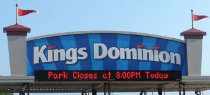 Kings Dominion Success Story-Signage for Theme Parks