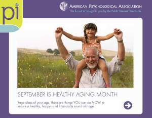 September Is Healthy Aging Month - 90 pounds by September possible?