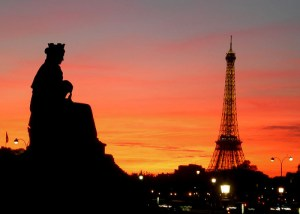 National Share A Sunset With Your Lover Month - Parisian Sunset photo (above)