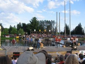 World Lumberjack Championships - The Lumberjack World Championships are held each year since 1960. Of the following three events?