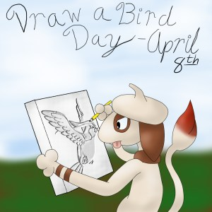 Draw A Bird Day - Why is my bird so angry?
