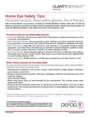 Home Eye Safety Month - halloween safety precautions?