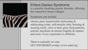Ehlers-Danlos Syndrome Awareness Month - Who is aware of Ehlers Danlos Syndrome?