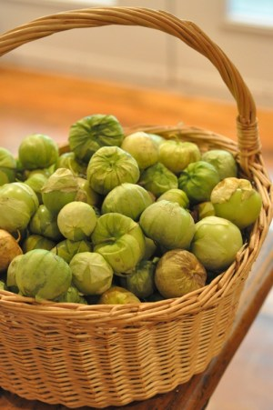 Tomatillo and Asian Pear Month - 12 lb tomatillos (about 7