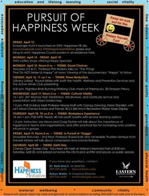 Pursuit of Happiness Week - Pursuit of happiness?