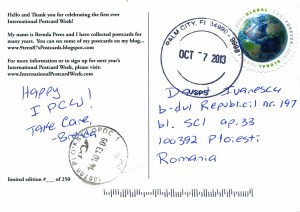 International Post Card Week - how do you send post cards from Japan to the US?