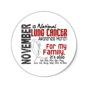 Lung Cancer Awareness Month - Why isn't there a prostate cancer awareness month? Or a lungbrain cancer awareness month?