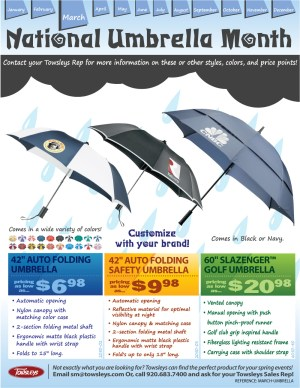 National Umbrella Month - If you could declare a national holiday celebrating something, what would it be?