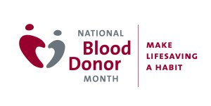 National Volunteer Blood Donor Month - January is national what month in the US?