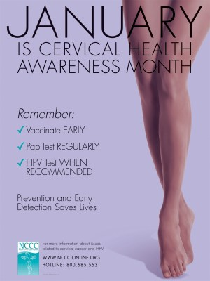 Cervical Health Awareness Month - January.awareness month?