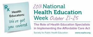 National Health Education Week - is there calendar displaying national recognition weeks?