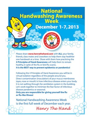 National Hand Washing Awareness Week - What are the eight principles of hand washing?