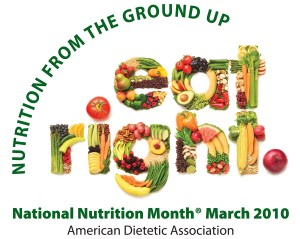 National Nutrition Month - what is the theme for this coming nutrition month?