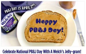 National Peanut Butter and Jelly Day - Did you know its National Peanut butter day?