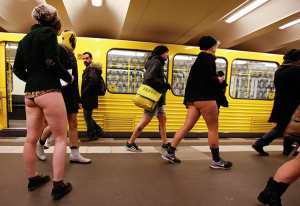 What do you think of 'No pants subway ride' day?