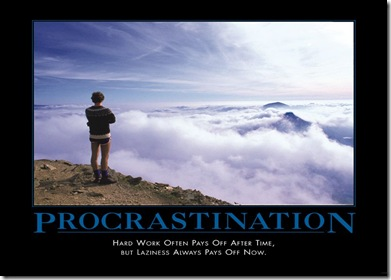 Do you observe National Procrastination Week?