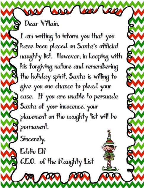 fUNNY cHRISTMAS lETTER tO sANTA?