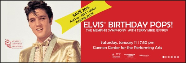 "Save 20% Off ""Elvis Birthday POPS"" Concert with the Memphis ..."