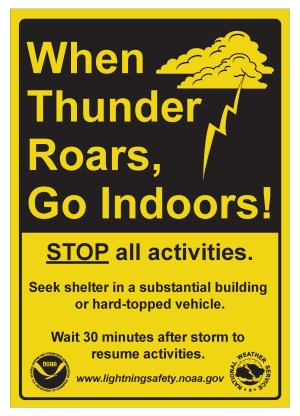 Lightning Safety Awareness Week - NOAA's annual lightning safety