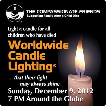 Grief Healing™: Worldwide Candle Lighting Service, 2012