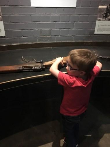 Lifting guns...
