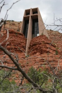 Chapel of the Holy Cross in Sedona, AZ is a popular destination for tourists and relief veterinarians in Arizona