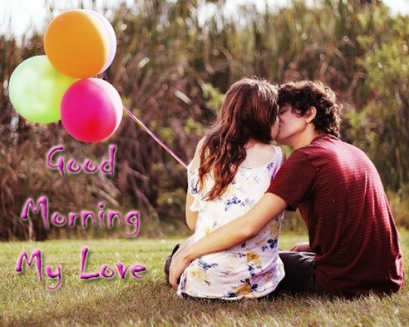 Romantic Good Morning Love Couple Pictures With Early Morning Holiday Wishes