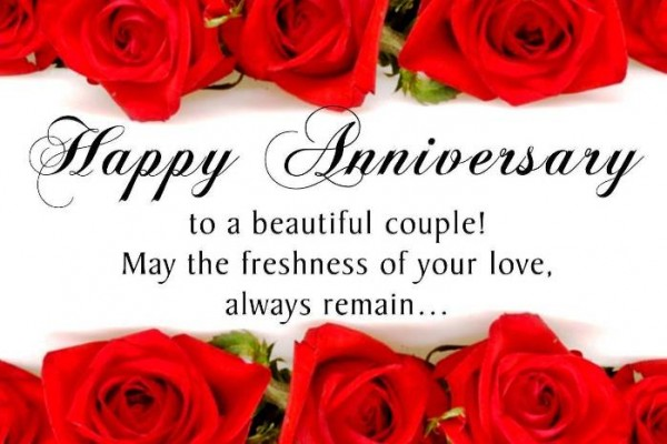 beautiful happy anniversary greeting with wallpaper