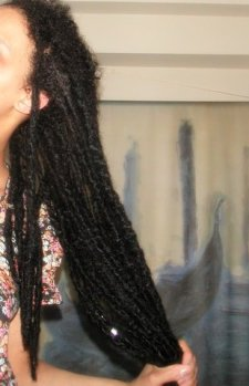 My locs: Just washed and root hairs are fluffy