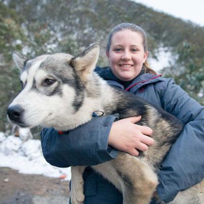 Husky With Owner Holistapet