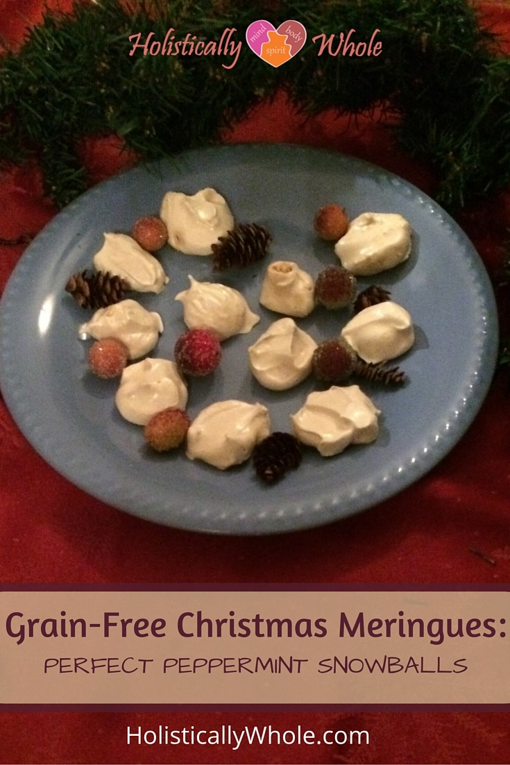 Christmas meringue cookies - peppermint snowballs