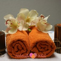 candles and towels for massage
