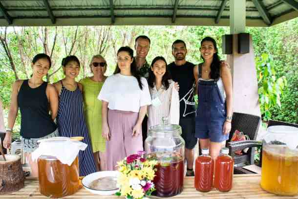kombucha workshop group of students