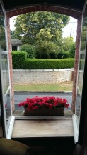 August: holiday view from my room (gite in France)