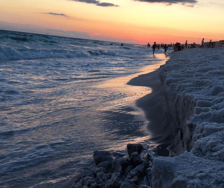Emerald Coast sunset by Rachel Mayew