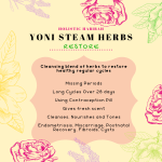 information on the benefit of restore cleansing yoni steam herbs