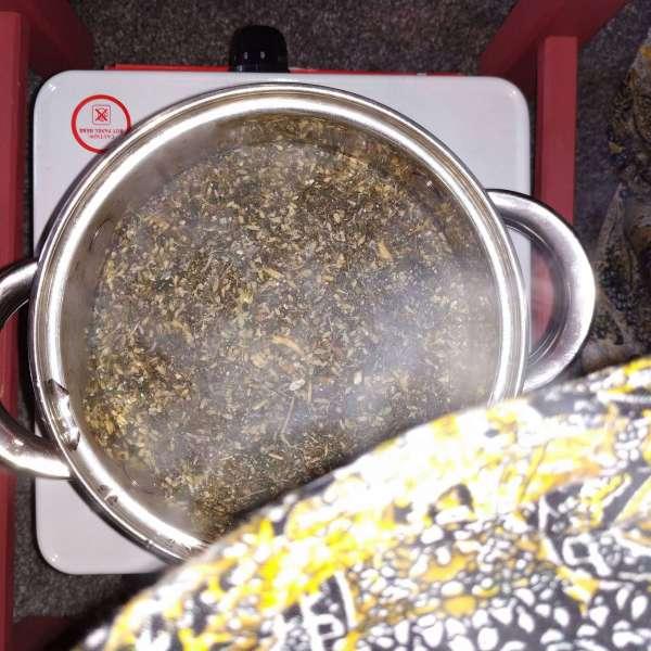 vaginal steaming pan