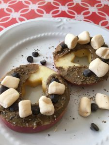 allergy-free apple snack with toppings