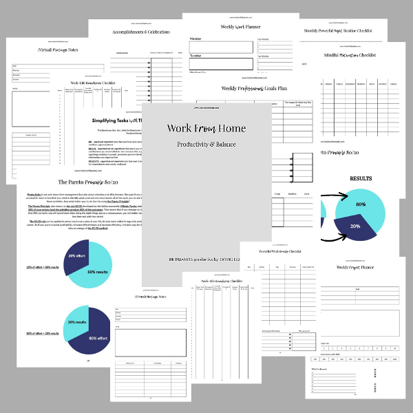 work from home planner