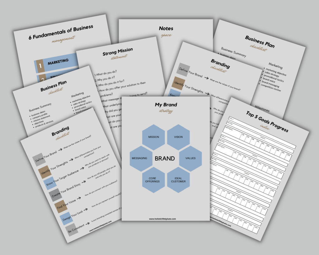 free build your brand worksheets